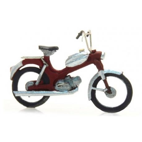 Vélomoteur rouge