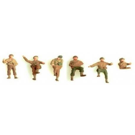 6 soldats de la 2ème DB - Groupe de combat pour Half-Track