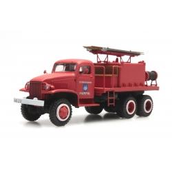 """GMC Cabine tolée """"PAIMPOL"""" - Camion citerne pour feux de forêt"""