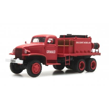 """GMC Cabine tolée """"GRIMAUD"""" - Camion citerne pour feux de forêt"""