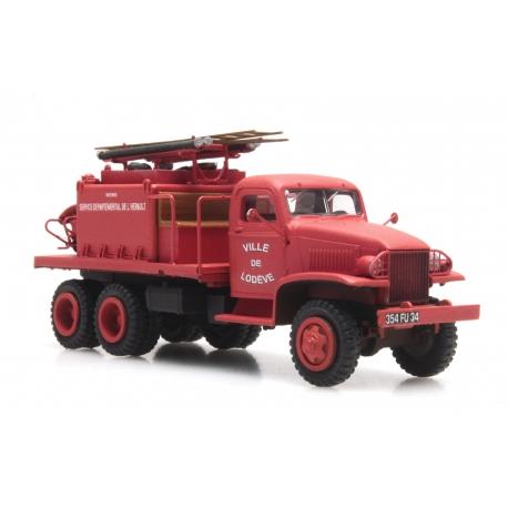 """GMC Cabine tolée """"LODEVE"""" - Camion citerne pour feux de forêt"""