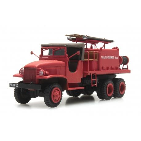 """GMC Cabine en toile """"COUTANCES"""" - Camion citerne pour feux de forêt"""