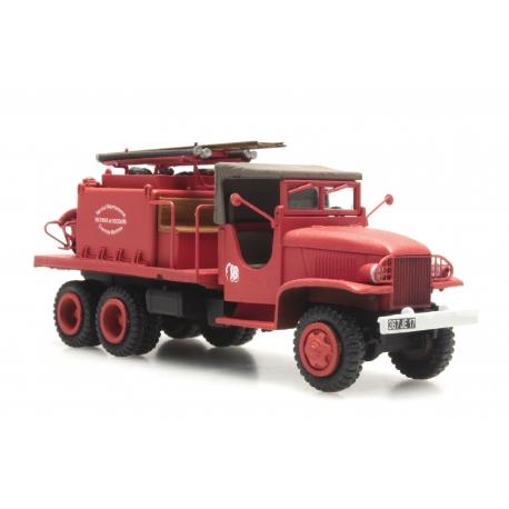 """GMC Cabine en toile """"CHARENTE-MARTIME"""" - Camion citerne pour feux de forêt"""