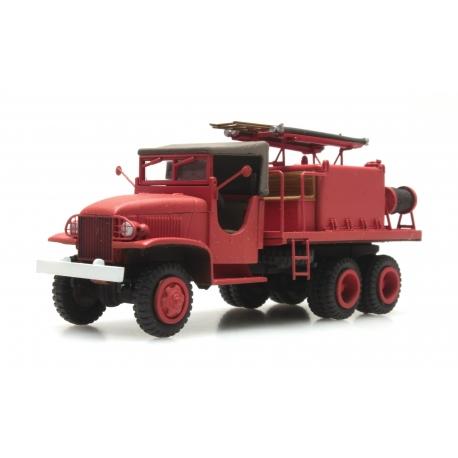 GMC Cabine en toile sans marquages - Camion citerne pour feux de forêt