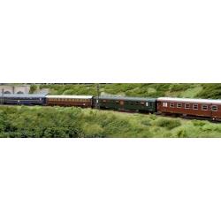 "Rome Express"" set 3 voitures (WL Uhansa + FS Bc couchette + FS Bz 32000 + DEV SNCF verte REE)"