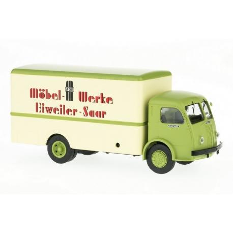 "Camion PANHARD Movic Fourgon - Calandre ancienne - ""Möbel Werke Eiweiler Saar"""