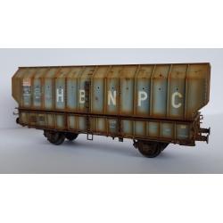 """Wagon patiné ARBEL 1956, Boite à Rouleau, caisse pans coupés """"HBNPC"""" Gris - Patine Franck BLONDEL"""