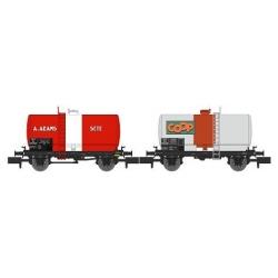 NW043 - SET de 2 Wagons Citernes Soudée OCEM 29 Ep.III