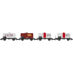 NW044 - SET de 4 Wagons Citernes Soudée OCEM 29 Ep.III