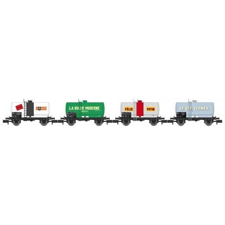 NW046 - SET de 4 Wagons Citernes Soudée OCEM 29 Ep.IV