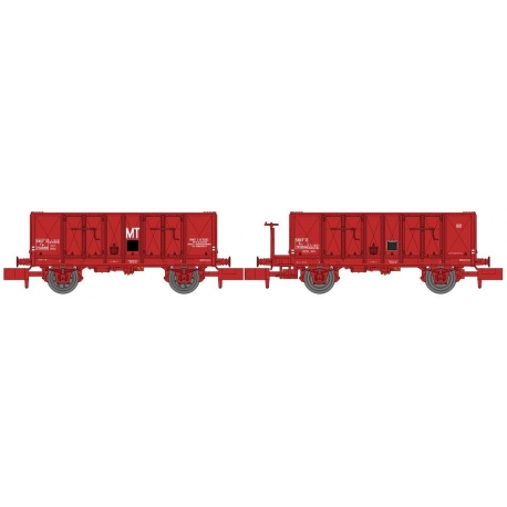 NW050 - Set de 2 Wagons TOMBEREAU OCEM 29 Ep.III Rouge