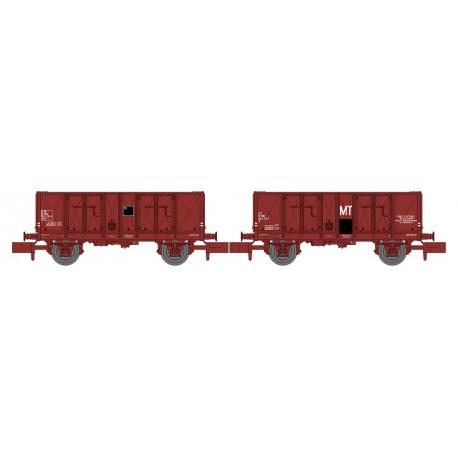 NW051 - Set de 2 Wagons TOMBEREAU OCEM 29 Ep.IV Rouge UIC