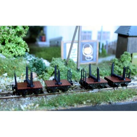Set de 4 wagonnets à bois