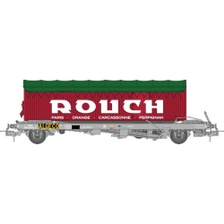 "Wagon KANGOUROU Ep.III + Remorque ""ROUCH"" bâche verte double essieux"