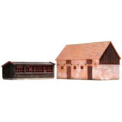 Poulailler et porcherie - kit résine non peint