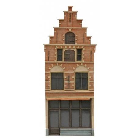 Façade T 17ème siècle hollandaise - kit résine non peint