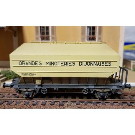 """Céréaliers FRANGECO B Ep.IV/V SET de 2 wagons """"GRANDES MINOTERIES DIJONNAISES"""" Patiné par François-Xavier JAMOIS"""