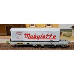 "Wagon KANGOUROU Ep.III + Remorque ""MOBYLETTE"" tôlé simple essieu"