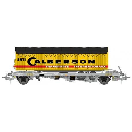 "Wagon KANGOUROU Ep.III + Remorque ""CALBERSON"" bâché double essieux"
