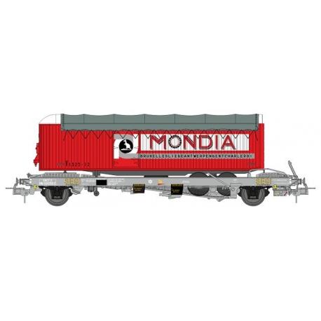 """Wagon KANGOUROU Ep.III + Remorque """"MONDIA"""" bâché double essieux"""