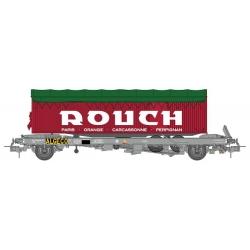 """Wagon KANGOUROU Ep.IV + Remorque """"ROUCH"""" bâché double essieux"""