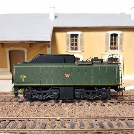 MB049 - Tender 38 A 67 SNCF, Vert SNCF 306 filets jaunes (pour décor)