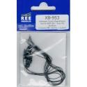 XB953 - Attelages Courts Magnétiques Norme NEM 363 - Avec fils 2 pièces Longueur M : Norme + 0.3mm