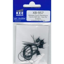 XB957 - Attelages Courts Magnétiques Norme NEM 363 - Avec fils 2 pièces Longueur S : Norme