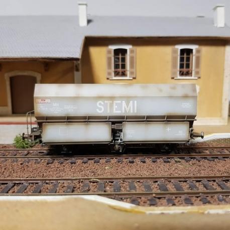 "Wagon MH45 Roue Léonard, 3 essieux "" STEMI"" Gris"