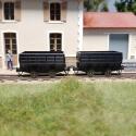 Set de 2 wagonnets à charbon
