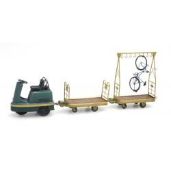 DE010 - Tracteur PEG + chariot vélo + plat