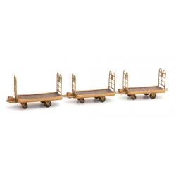 DE012 - 3 chariots plats