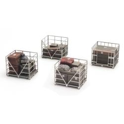 Palettes avec cage en métal