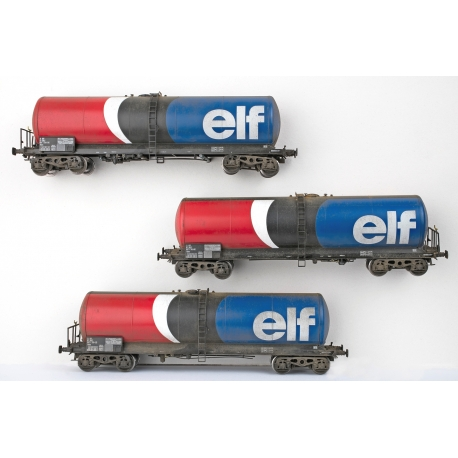 "WB-495 SET de 3 ANF ""ELF"" Citerne Longue PATINE"