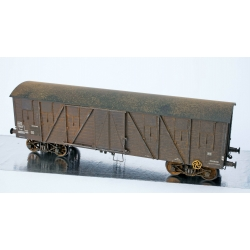 WB525 P - Wagon COUVERT TP 2 Portes Ep.III B SNCF Lyw 418305 PATINE