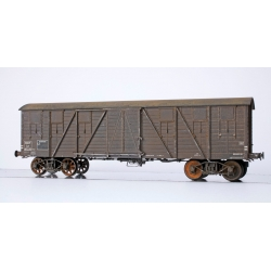 WB526 P - Wagon COUVERT TP 2 Portes Ep.III B SNCF Lyw 417239 PATINE