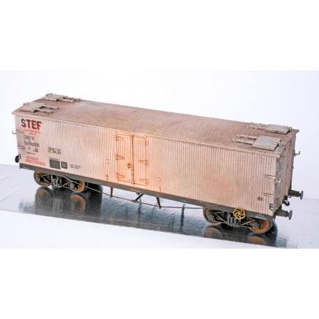 WB535 P - Wagon TP FRIGO Origine à Trappes à glace SNCF Ep.III PATINE