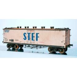 WB537 P - Wagon TP FRIGO Origine à Trappes à glace et Aérateurs SNCF Ep.III PATINE