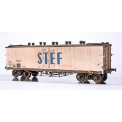 WB538 P - Wagon TP FRIGO Origine à Trappes à glace et Aérateurs SNCF Ep.III PATINE