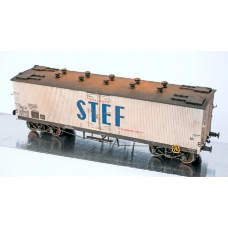 WB539 P - Wagon TP FRIGO Origine à Trappes à glace et Aérateurs SNCF Ep.III PATINE