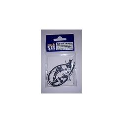 XB933 - Attelage AIMANT CONDUCTEUR NEM362 3 Tailles Long/Moyen/Court L/M/S (x 4)
