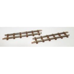 2 rails droits, longueur 77 mm