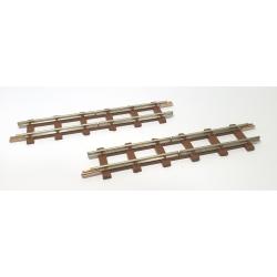 2 rails droits de coupure, longueur 77 mm