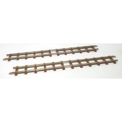 2 rails droits, longueur 154 mm