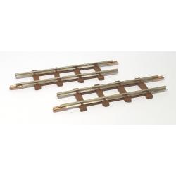 2 rails droits, longueur 63 mm