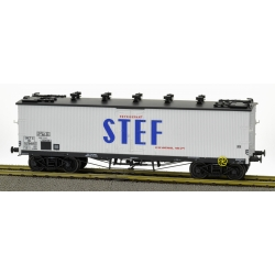 Wagon TP FRIGO Origine à Trappes à glace et Aérateurs SNCF Ep.III
