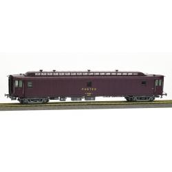AMBULANT brun PTT, châssis gris bogie Y2, soufflet, PAz N°50 87 00-77 283-5 Ep.IV