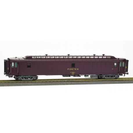 AMBULANT brun PTT, châssis gris bogie Y2, bourrelet UIC, PAz N°50 87 00-77 124-1 Ep.IV