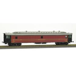 POSTALE OCEM 21,6 m Ep.II - PAyi rouge foncé, toit gris clair, échelle, Bogie Y2 N°43502 MIDI