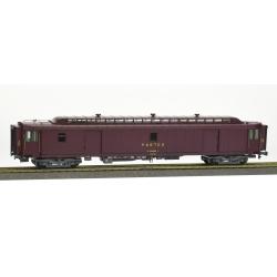 ALLEGE brun PTT, châssis gris bogie Y24, bourrelet UIC, PEz N°50 87 00-87 556-2 Ep.IV